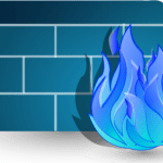 large blue firewall